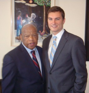 Rep. John Lewis and Bryan Long